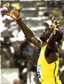 北京五輪ウサインボルト金メダル19秒30