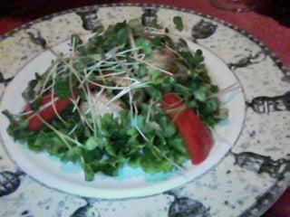 生マッシュルームのサラダ