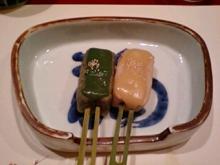 烏丸,梅の花,野菜と豆乳のしゃぶ膳,生麩田楽,焼物