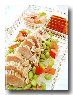 tuna sashimi plate
