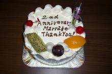 2周年ケーキ