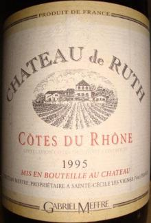 Ch de Ruth Cotes du Rhone Gabriel Meffre 1995