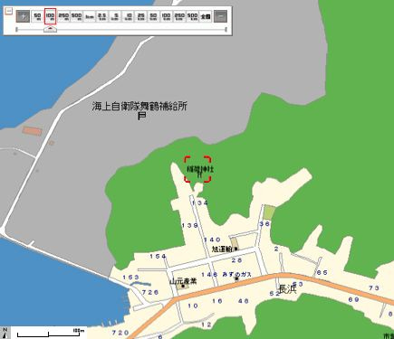 加津良稲荷神社周辺地図
