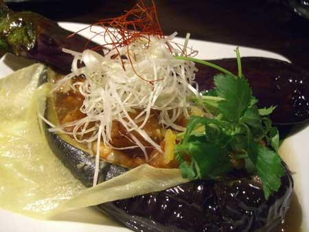 米茄子の海鮮あんかけ舟