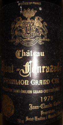Chteau Haut Fonrazade 1978