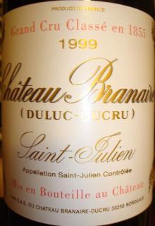 個人的ワインのブログ-Ch Branaire Duluc Ducru 1999