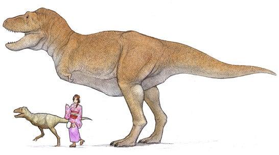 タルボサウルスの成体と子供