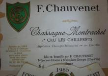 Chassagne Montrachet Les Caillerets 1985 F Chauv