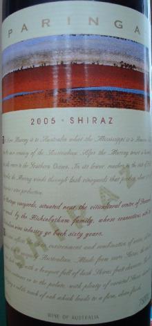 PARINGA SHIRAZ 2005