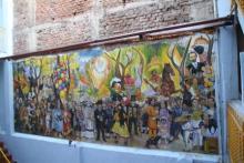 0216ペンションアミーゴに飾られた壁画.JPG