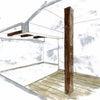 兵庫古材を使ったマンションリノベーションプランの画像