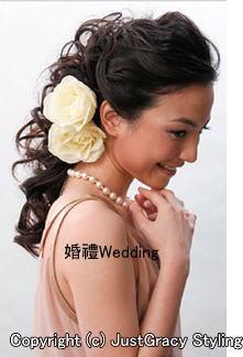 花嫁のヘアスタイル香港☆9