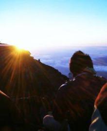 富士山頂:ご来光