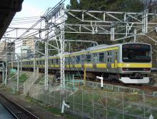 中央線の電車と釜-B23