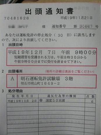 11月30日(金) 出頭通知書 | Super Moto Challenger KAYO'S BLOG