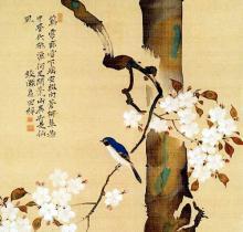 tomasocのブログ-酒井抱一画・桜に小禽図