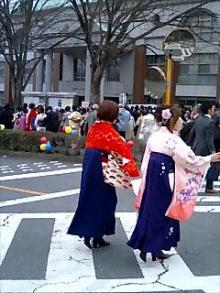 袴姿の卒業式