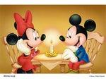 愛の炎を育てるミッキーとミニー