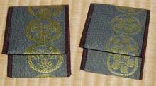 家紋畳縁の財布作成途中