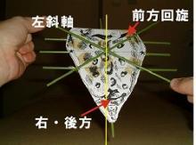 仙骨左斜軸模型
