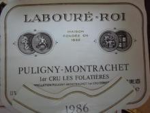 Puligny Montrachet  Les Folatieres 1986 Laboure