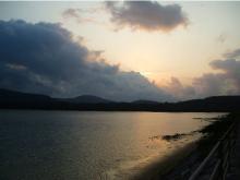 0314 海中道路からの夕陽@西表