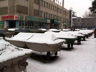 冬のビリヤード屋