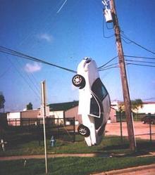 電線vs車
