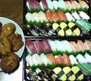 お寿司とチキン