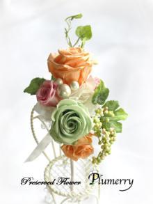 Plumerry(プルメリー)プリザーブドフラワースクール (千葉・浦安校)-春色 ブートニア