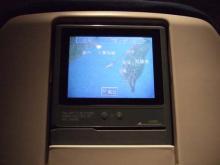 機内座席の液晶モニター