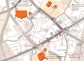 六本木アートトライアングル地図