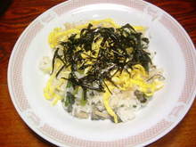 カニと山菜の散らし寿司
