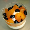 プリン:柿と黒豆の画像