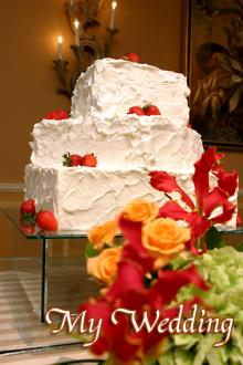 ケーキ装花