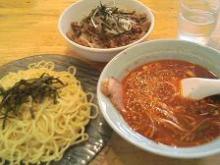 つけ麺&チャーシュー丼