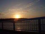 来間大橋から見る夕日