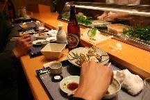 名登利寿司にて
