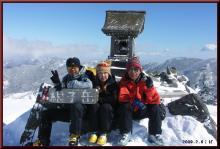 ロフトで綴る山と山スキー-山頂にて