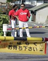 黒田投手と踏切