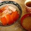 アメ横で四色丼の画像