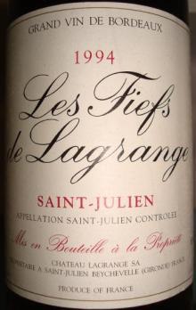 Les Fiefs de Lagrange 1994