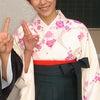 先生の袴姿のお写真の画像