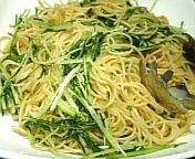 水菜のペペロンチーノ