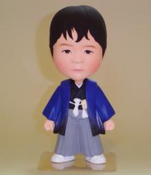 上賀茂からこんにちは。-そっくり人形 製作事例 七五三 袴着衣装
