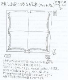 縦と横にめくるWeb絵本1998~1999年