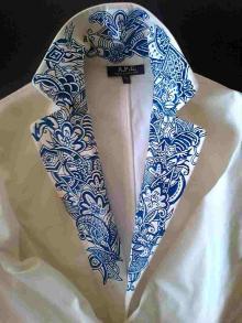 white jacket collar