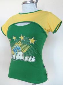 ブラジル国旗シャツ