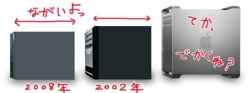 新旧PC,Mac サイズ比較