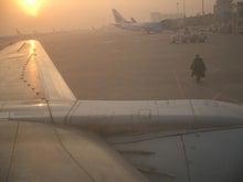朝の天津空港